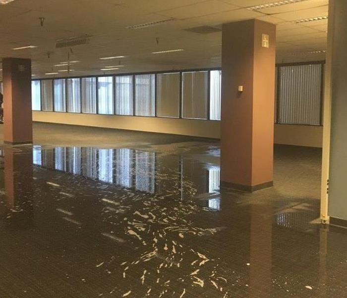 Getting rid of water fast after a major commercial loss Before