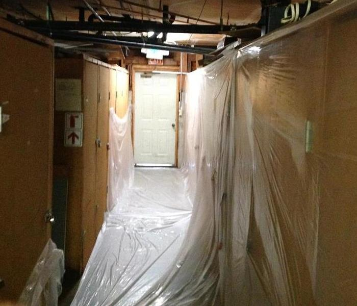 Cleaning up water damage on a commercial loss